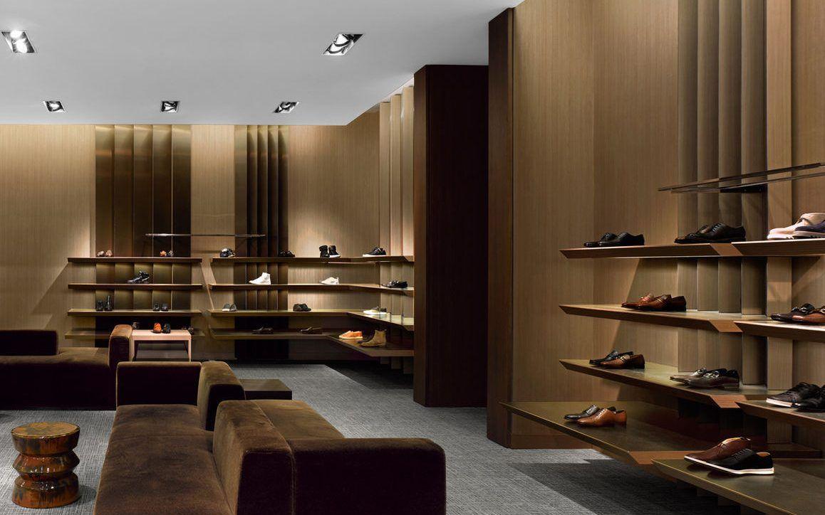 Wooden Footwear Store Design Showcase Display Furniture ...