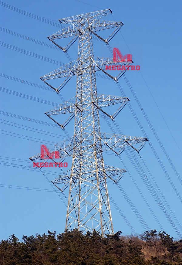 MEGATRO mainly produce 765KV Four circuit transmission tower for our European clients even some