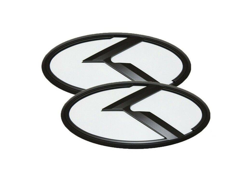 Details About 3d K Logo White Black Edition Emblem 2pc Set Fits Kia 2020 Telluride K Logos Emblems Black Edition