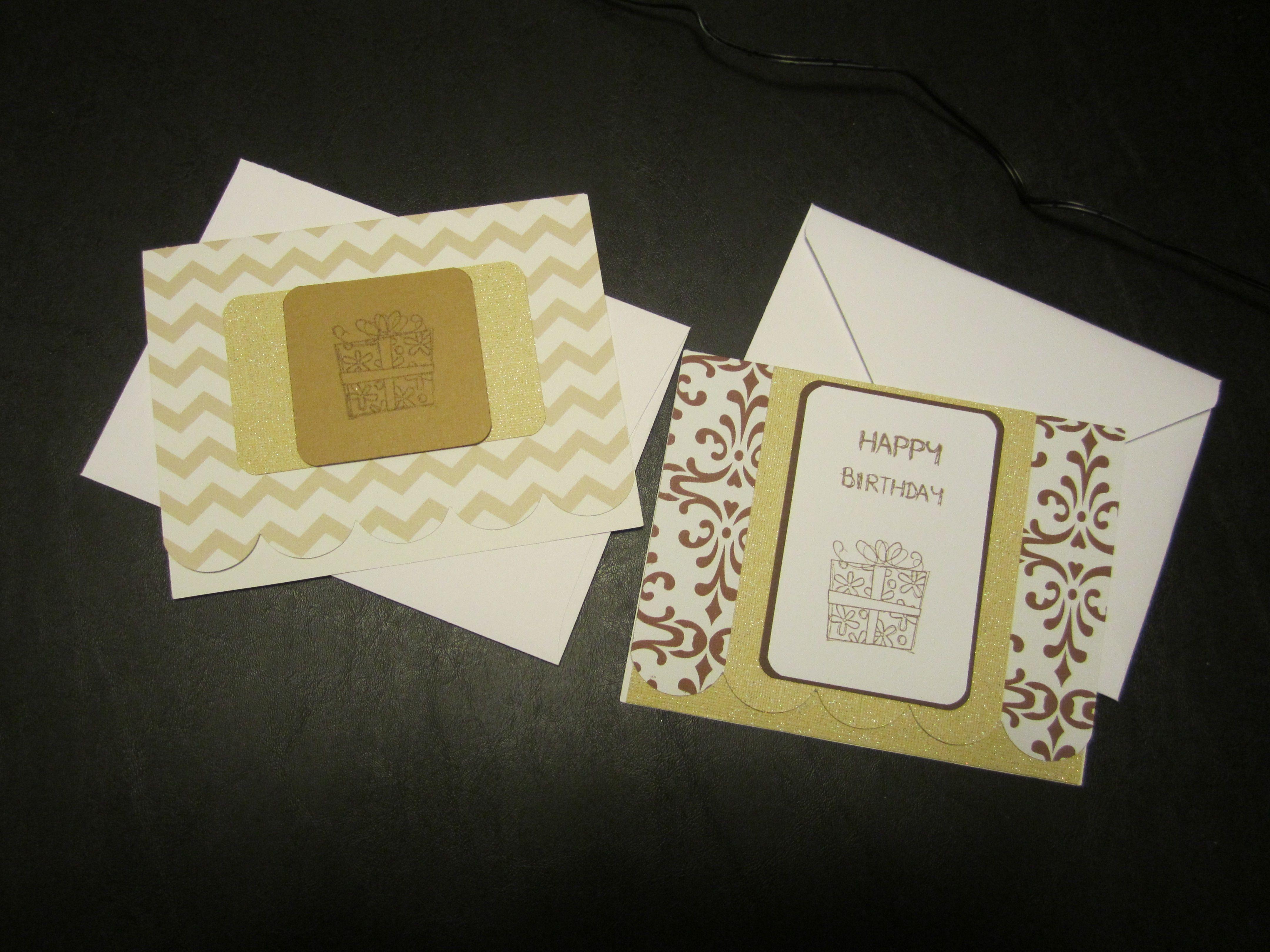 Birthday cards using the cricut creative card cartridge. my cricut