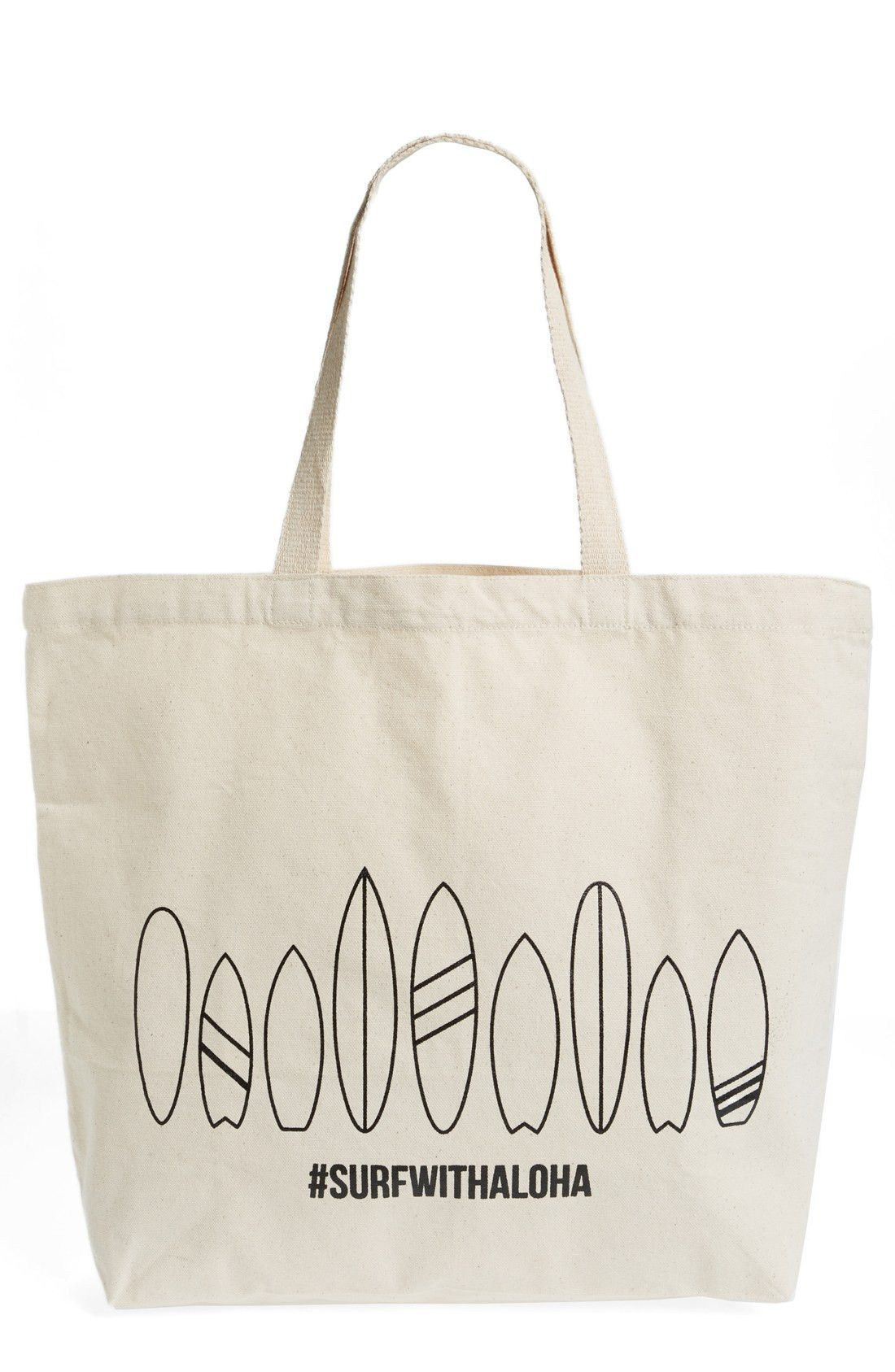 WORKSHOP 28 'Surf with Aloha' Canvas Tote