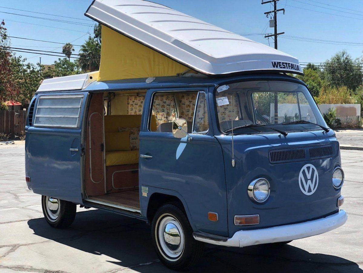 vanlife 1970 VolkswagenBus Westfalia Pop Top Camper