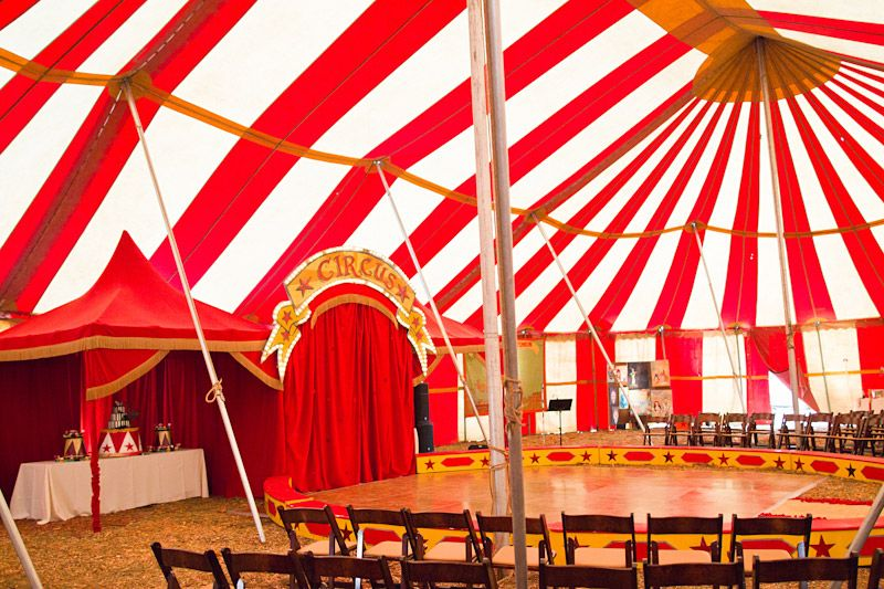 ventura county wedding with vintage circus tent from water
