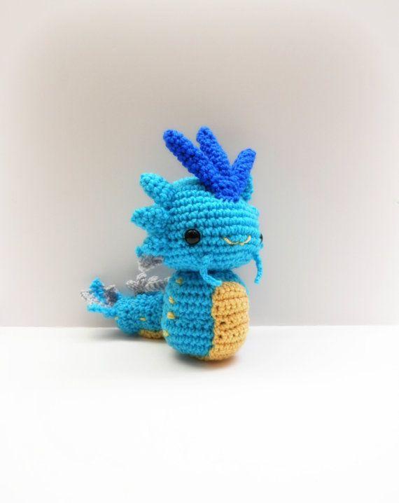 Crochet Gyarados Inspired Chibi Pokemon   Ideas artesanales ...