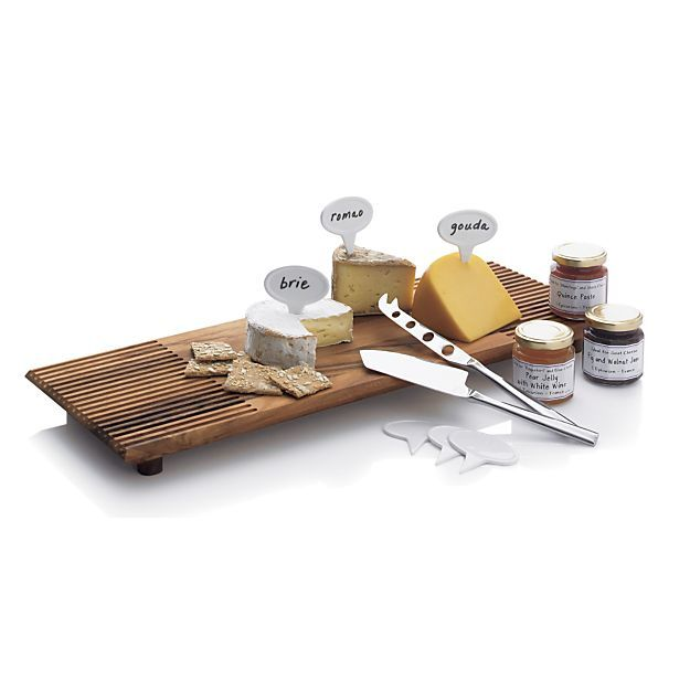 Couture 2 Piece Cheese Knife Set Reviews Crate And Barrel With Images Cheese Markers Cheese Knives Crate And Barrel