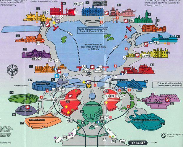 Mapa Do Epcot Center Cada Casa Ao Redor Do Lago E Um Pais Epcot Disney Mapa