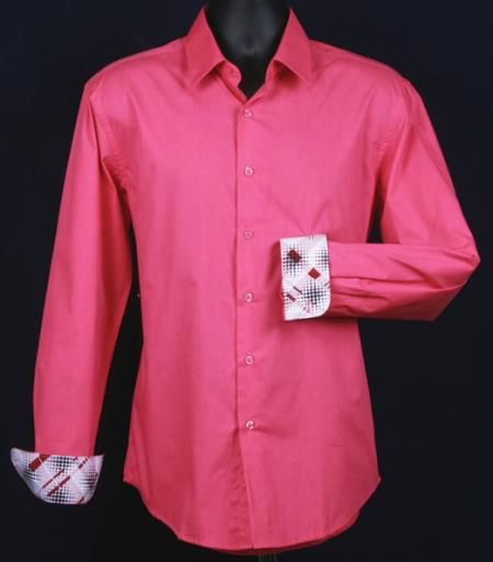 men 39 s fancy slim fit cuff pattern shirt dress shirts