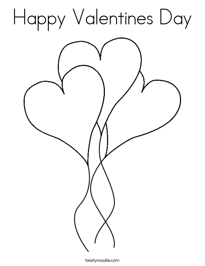 Valentines Day Coloring Pages Hearts Display