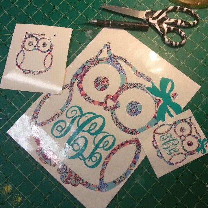 Owl Family Stick Figure Vinyl CarTruck Decal Sticker Owl Family - Owl custom vinyl decals for car
