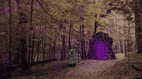 Since When Do Minecraft Creepers Come Out Of Purple Portals In The