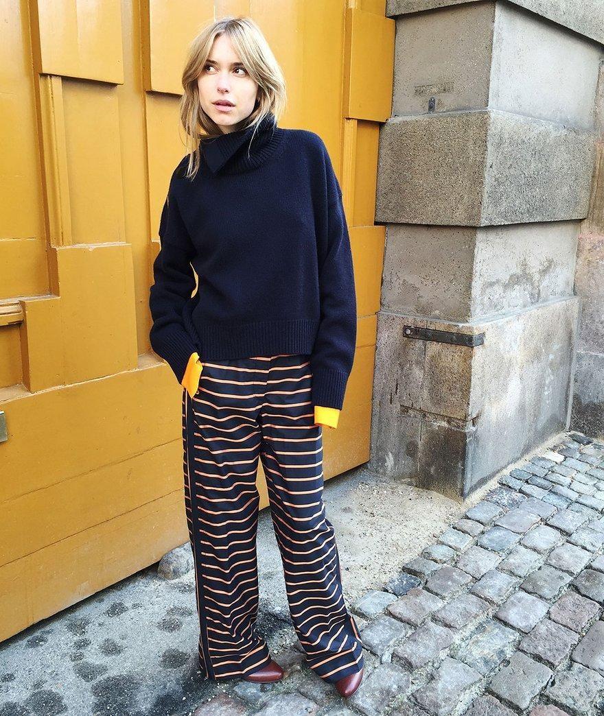 Céline knit, Acne Studios shirt, Marni pants, Filippa K boots