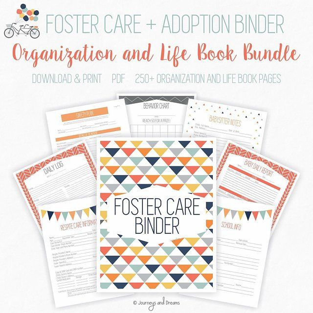 Foster Care / Adoption Life Book Binder . 160+ Pages! . 8