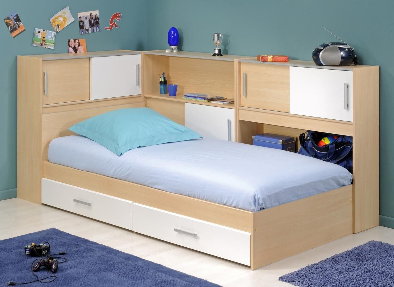 Snoop Single Bedstead With Side Storage Bed frame with