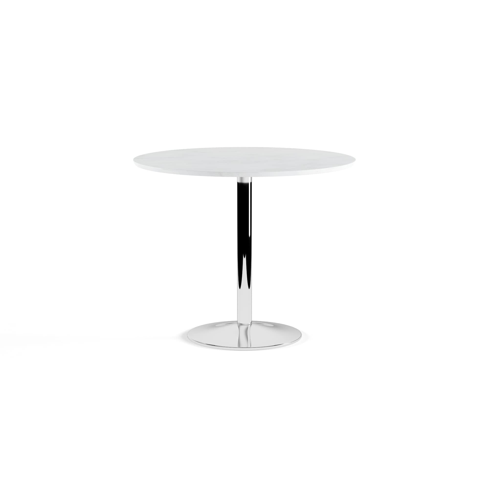 & Den Third Ward Mason Round Dining Table White Table Top