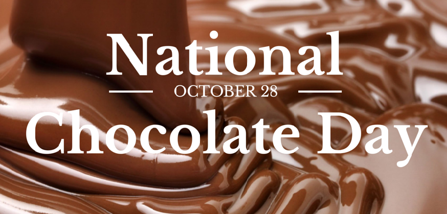 National Chocolate Day Is Tomorrow Oct 28th We Will Be Celebrating Chocolate From 11 3 Chocolate Day National Chocolate Cake Day International Chocolate Day