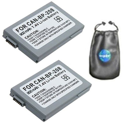 Valuepack 2 Count Digital Replacement Camera And Camcorder Battery For Canon Bp208 Bp308 Bp214 Bp315 Dc1 Camera Lens Accessories Digital Camera Photo Equipment