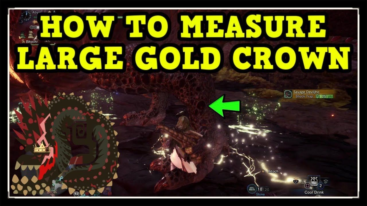 MHW Iceborne Savage Deviljho How to Measure Large Gold