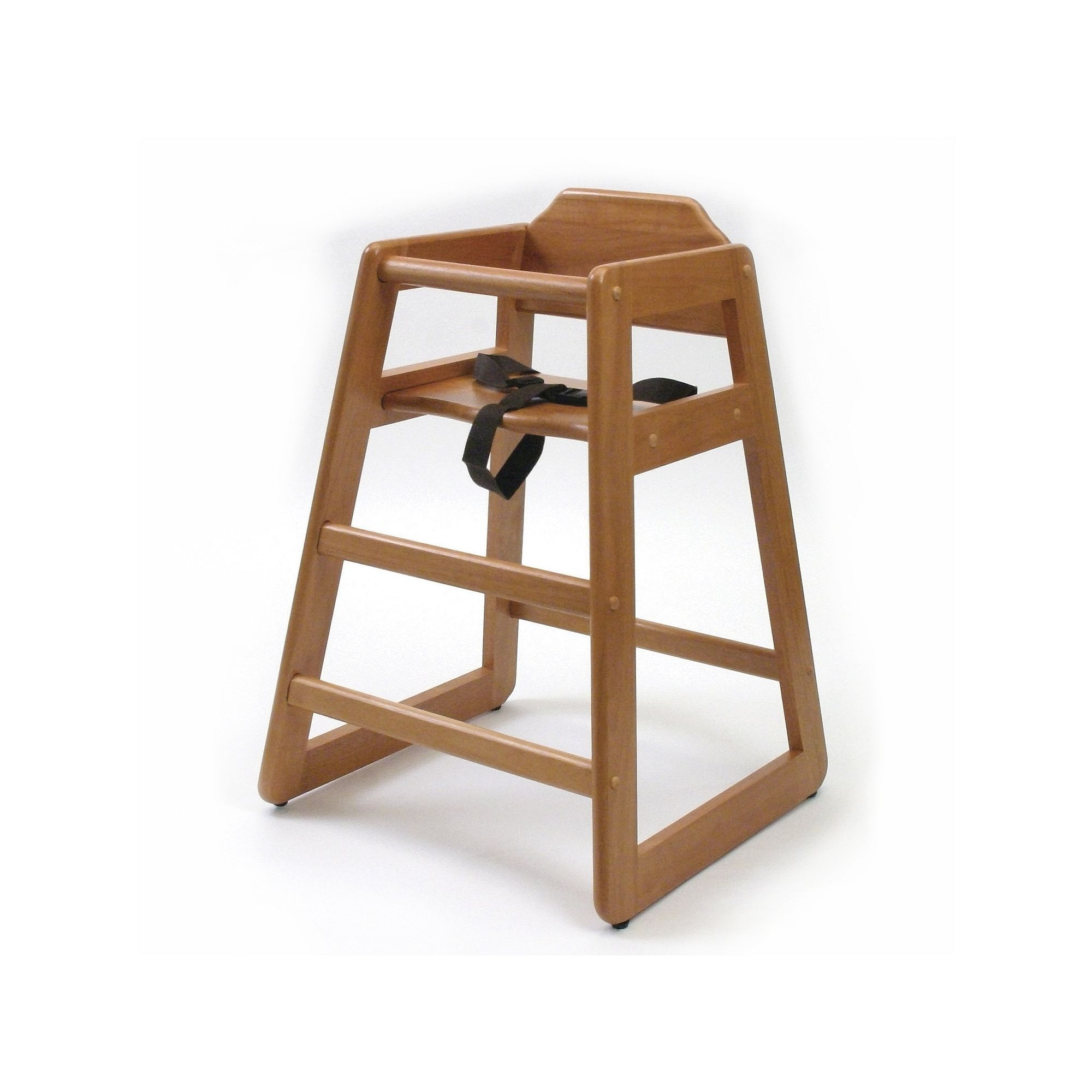 Lipper Wood High Chair Brown