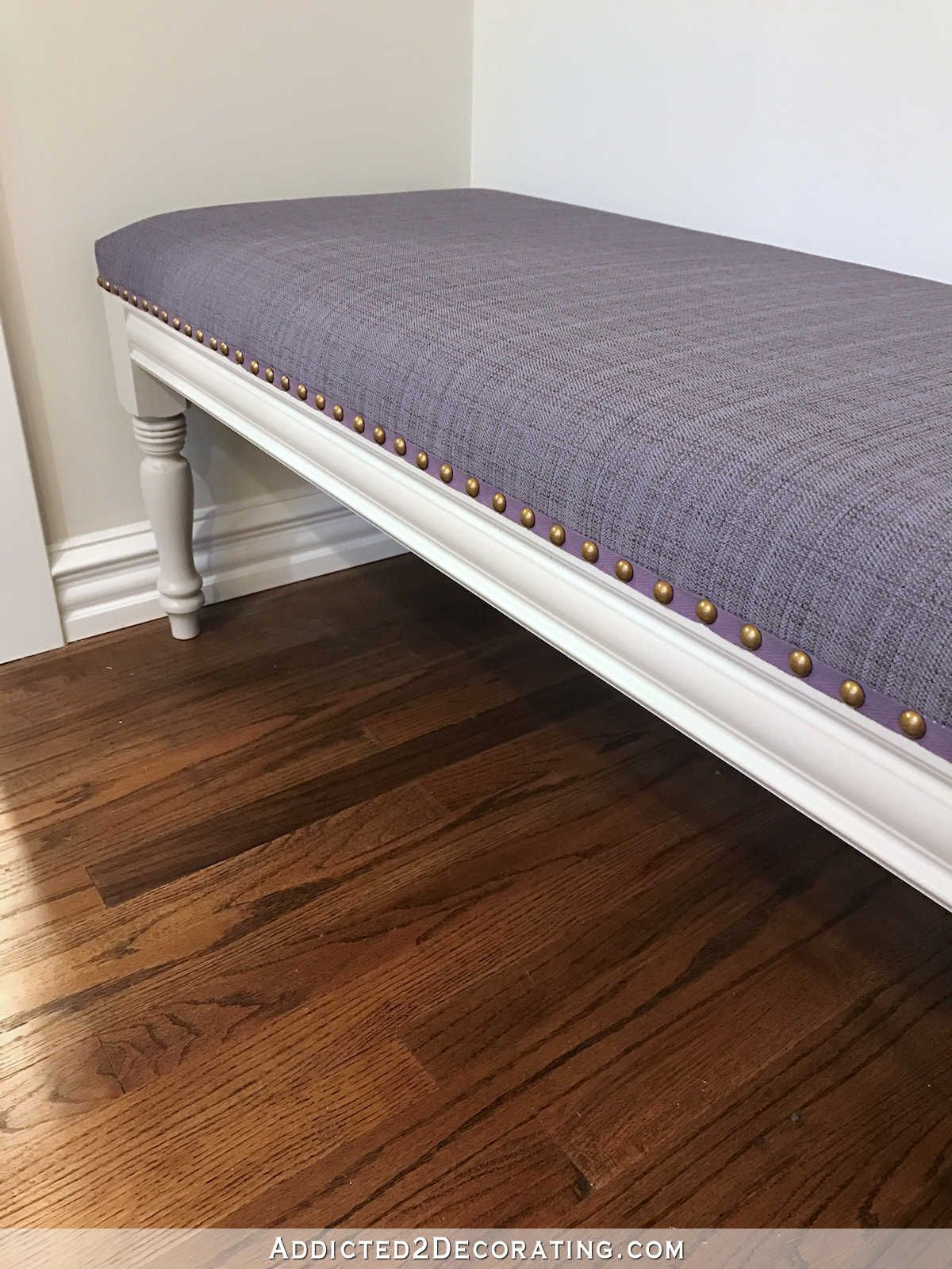Diy Upholstered Dining Room Bench Finished How To Upholster The Seat Addicted 2 Decorating Dining Room Bench Upholstered Bench Seat Upholstered Bench Diy