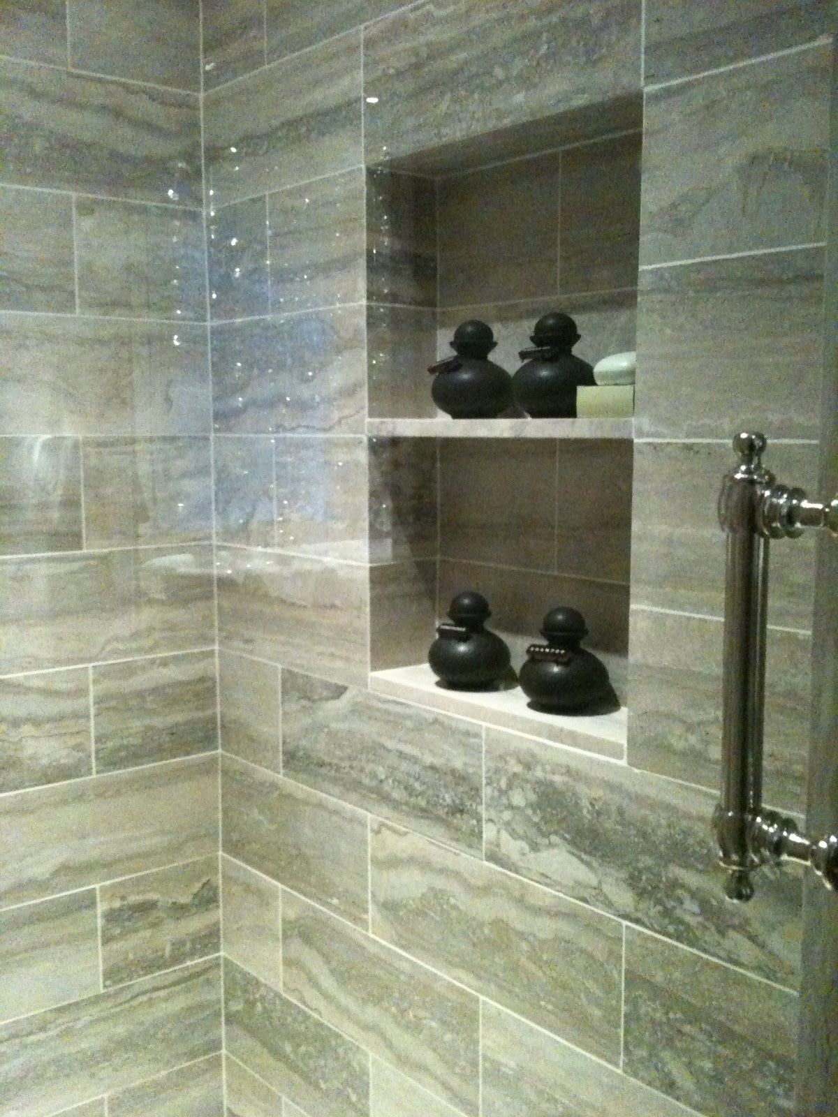 shower tile 12x24 - Google Search | Apartment bathroom ...