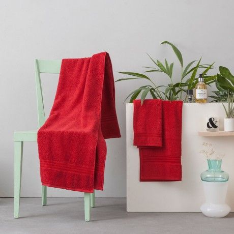 3-Pc. Towel Set - Red - by Hobby designed in Turkey #MONOQI