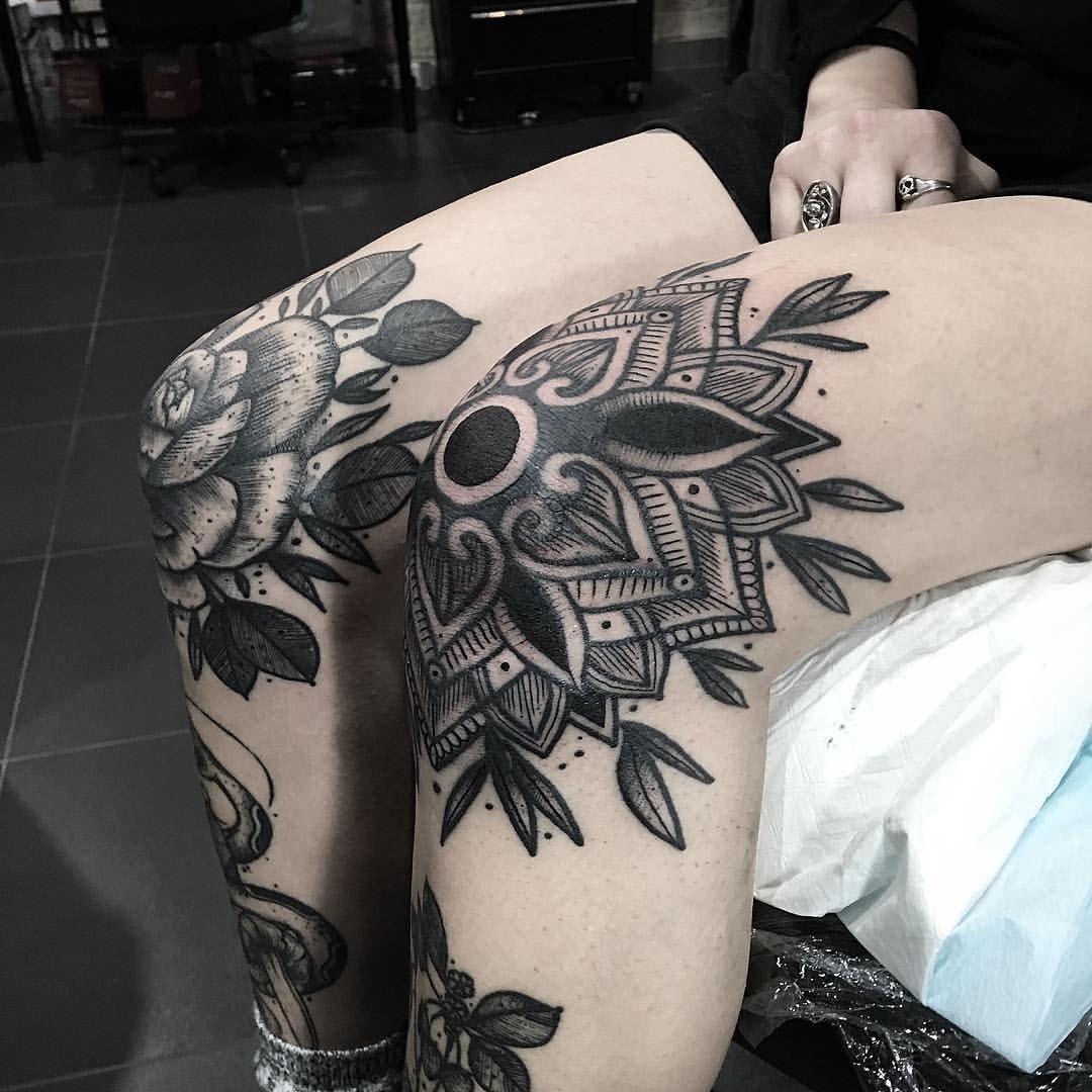 Nikolaskos Tattoos Knee Tattoo Shin Tattoo Tattoos