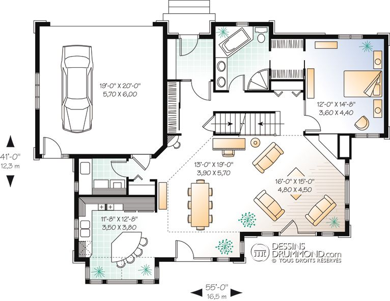 Country Style Homes, Chalet  Waterfront Homes, Mediterranean - plan maison etage m