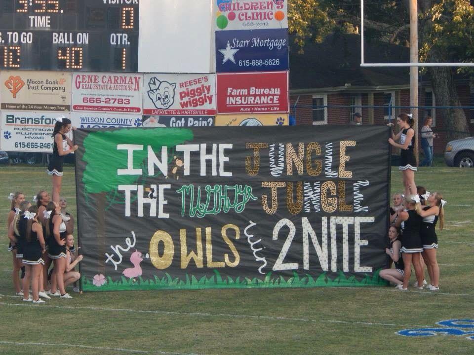 Schs Macon County Run Through Sign Football Cheer Cheer Posters Cheer Signs