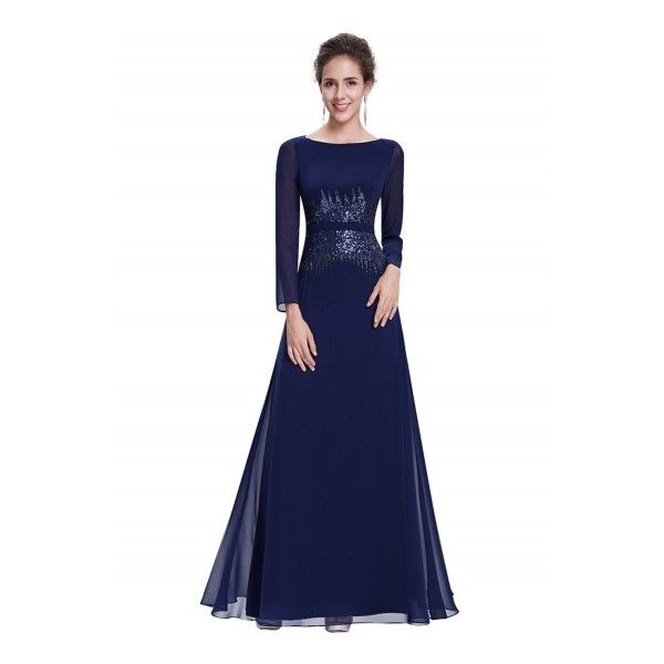 Women\'s Elegant Sequin Slim Fit Prom Dress (2 045 UAH) ❤ liked on ...