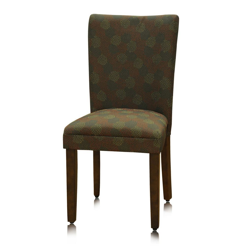 Parsons Colored Fireworks Design Dining Chairs (Set of 2)