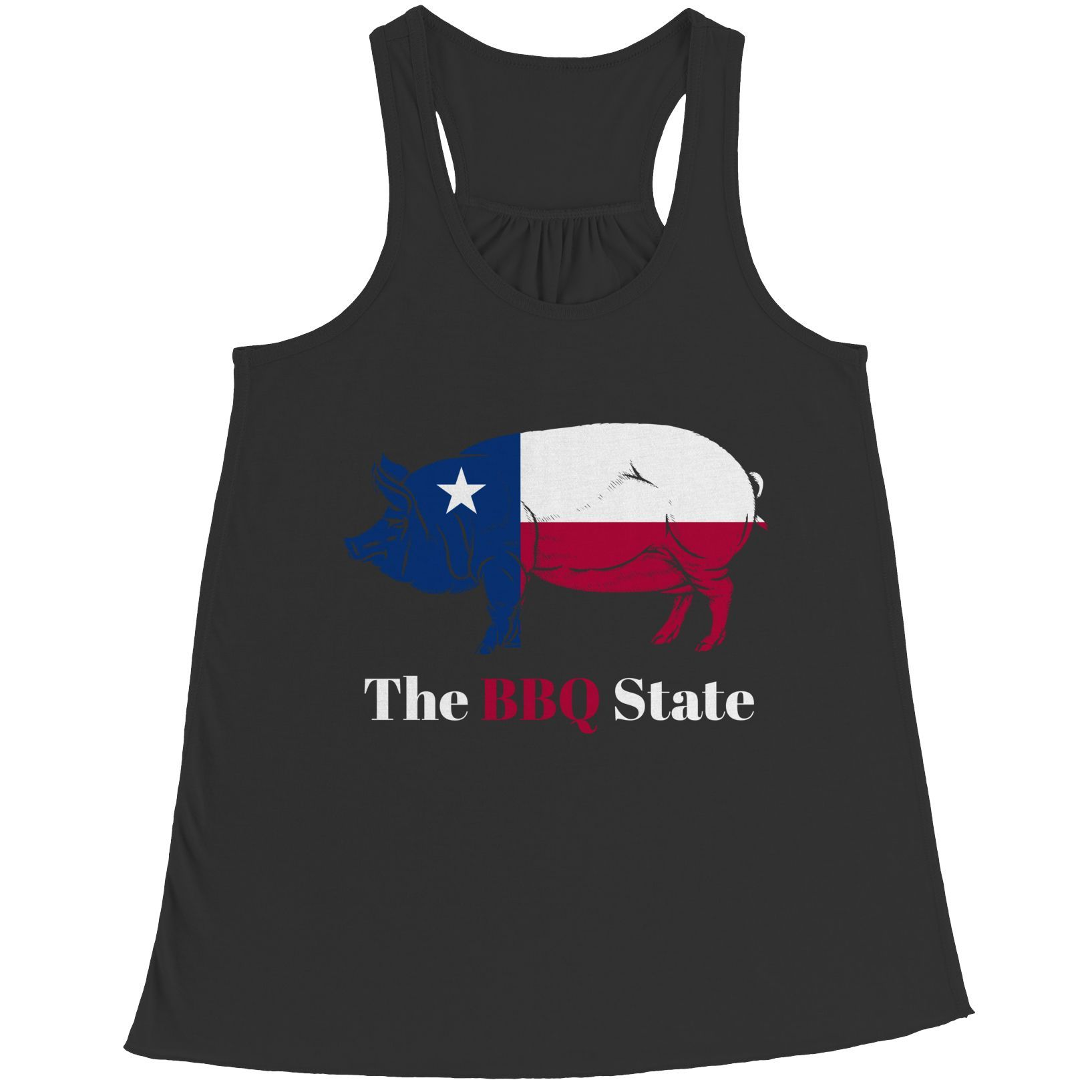 BBQ State - Dallas, Texas- Bella Flowy Racerback Tank