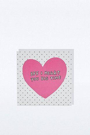 BFF I Heart You Card