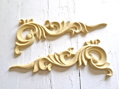 Beautiful Architectural Carved Corners Furniture Appliques Wood  U0026resin Flexible Paintable