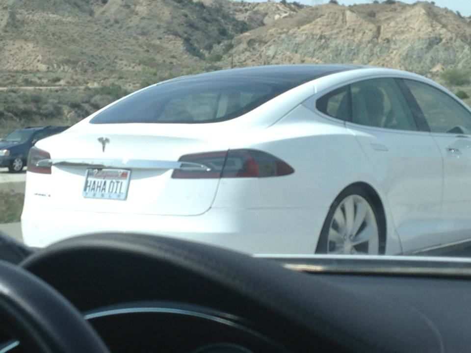 Haha Oil Funny License Plate On A Tesla Model S Funny License Plates Tesla Model S Vanity License Plates