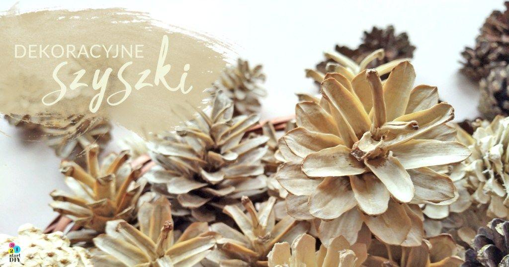 Szyszki Dekoracyjne Czyli Jak Wybielic Szyszki Burlap Wreath Diy Floral Arrangements