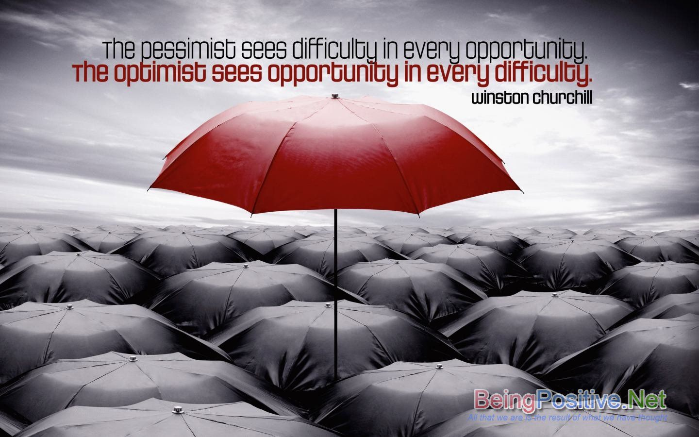 The Pessimist Sees Difficulty In Every Opportunity The