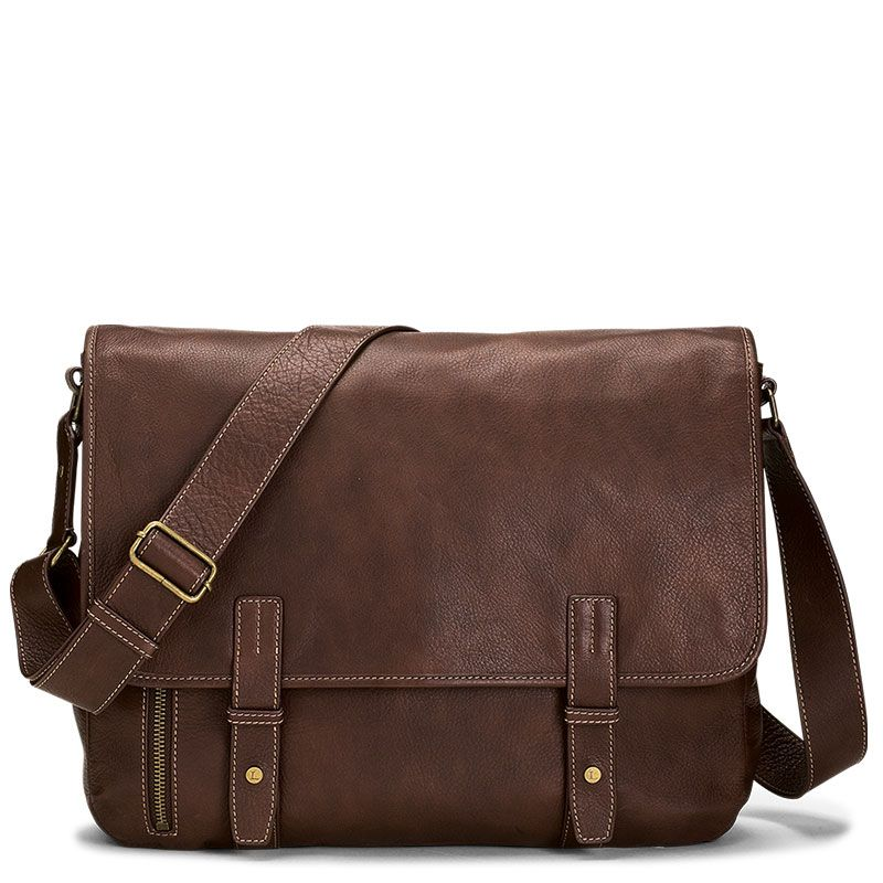 Perry Ellis Zip-Top Leather Briefcase | Teacher bags and Perry ellis