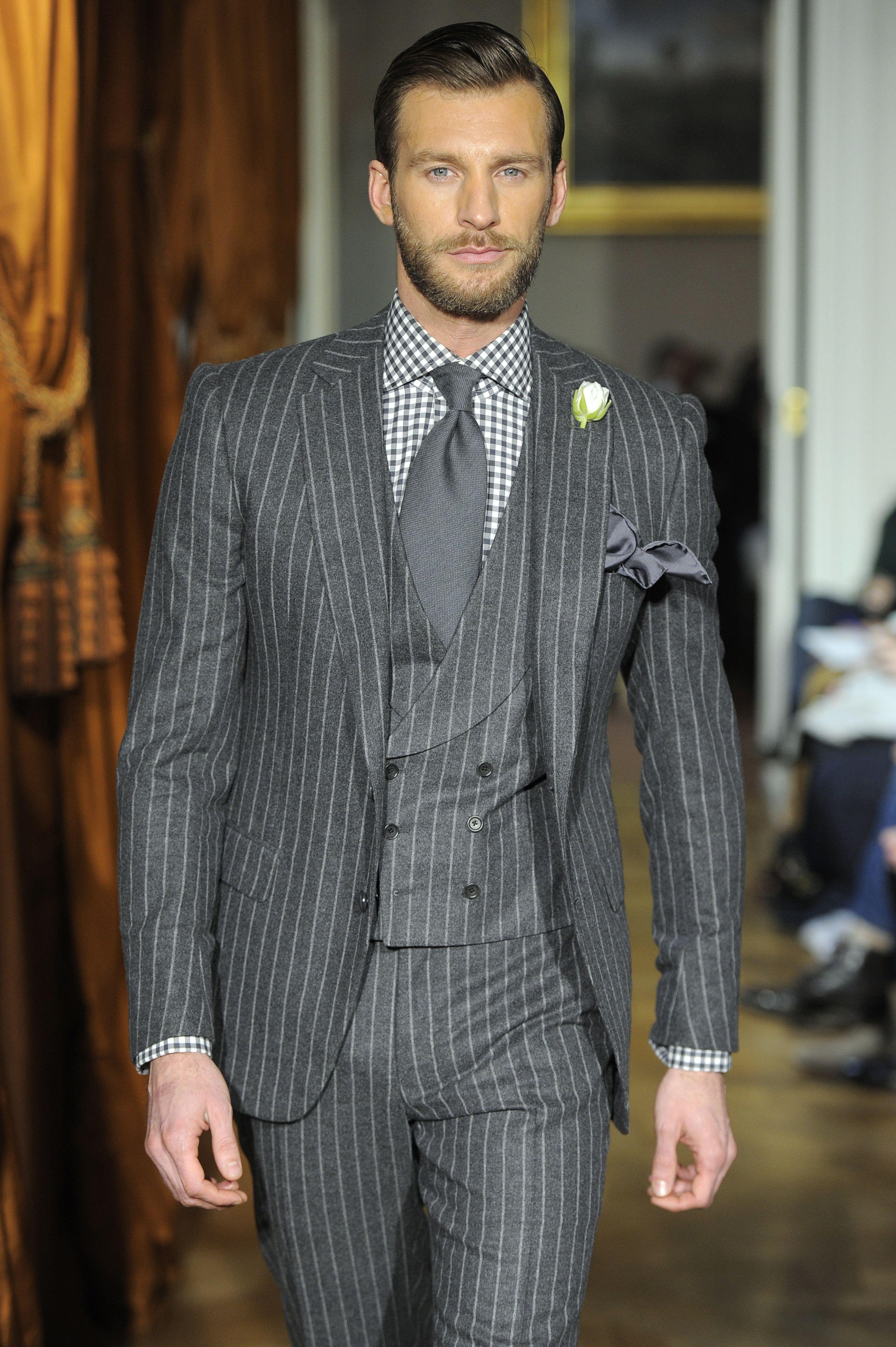Cifonelli Ll In 2019 Grey Suit Men Plus Size Suits
