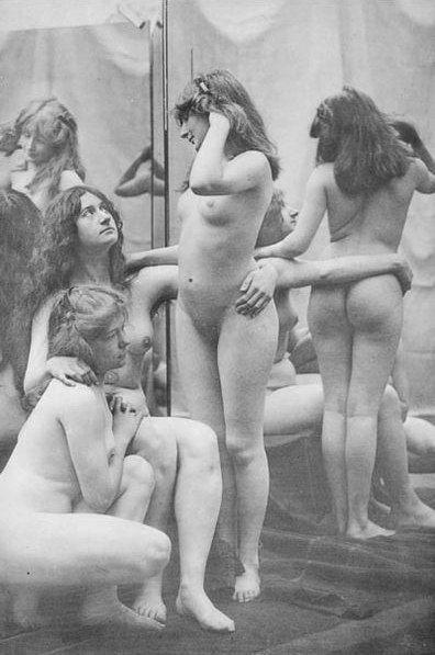 Mature women in open lingerie
