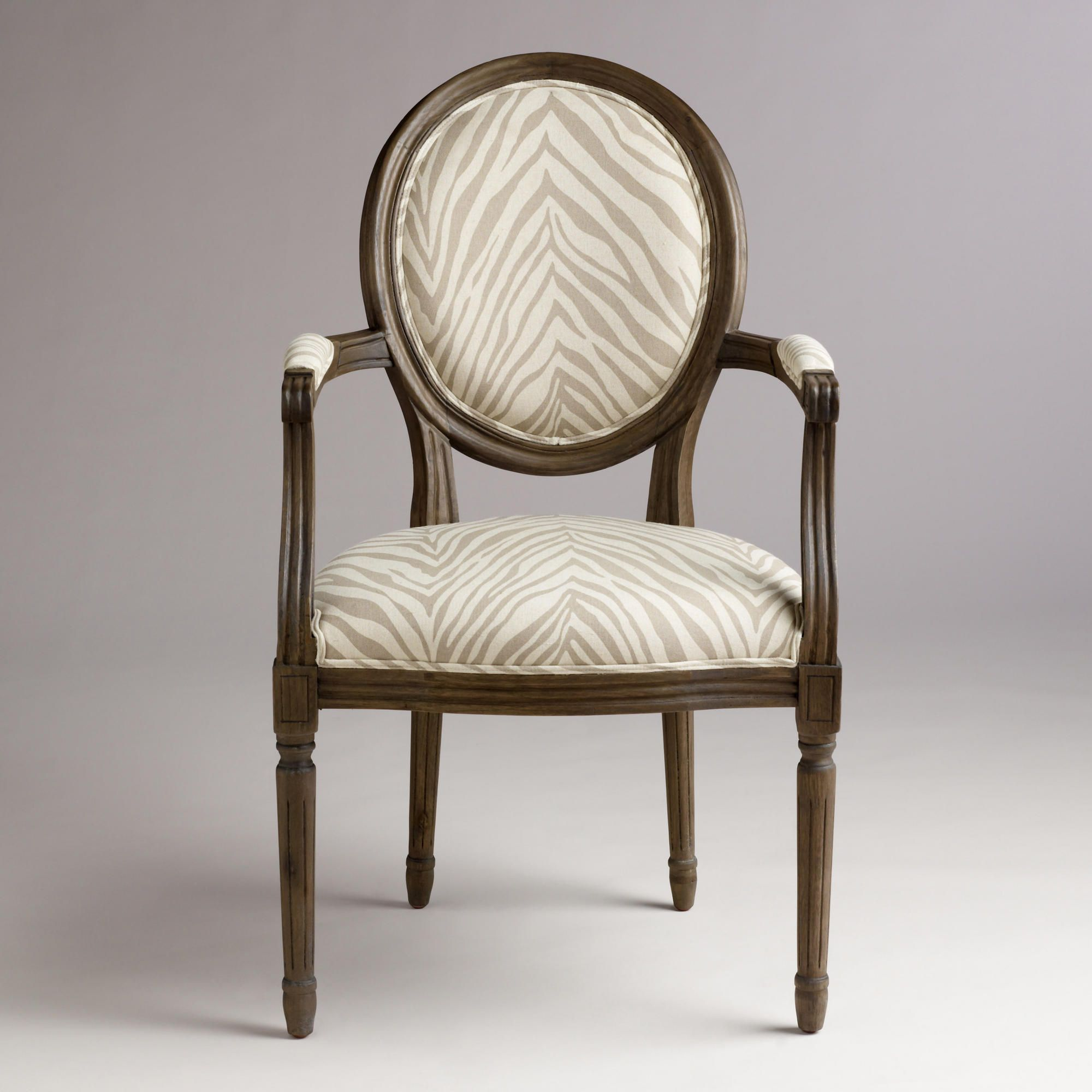 Fell in love with a chair at World Market,today.  Zebra Ella Armchair | World Market
