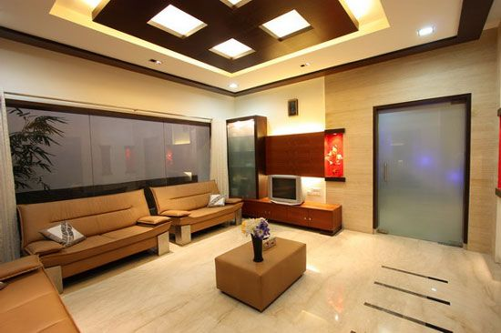 Stylish False Ceiling Designs For Living Room