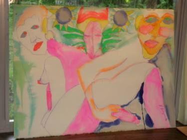 "Saatchi Art Artist robert j kaczmarek; Painting, ""MAUI 1980S"" #art"