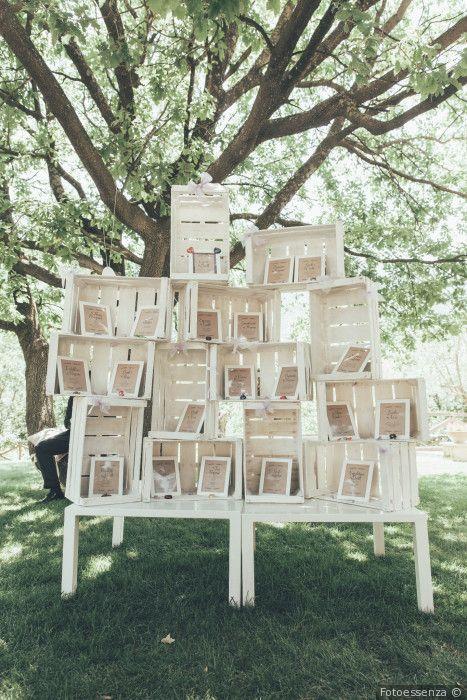 Matrimonio Shabby Chic Country : Tableau de mariage con materiali di riciclaggio legno e cornici per