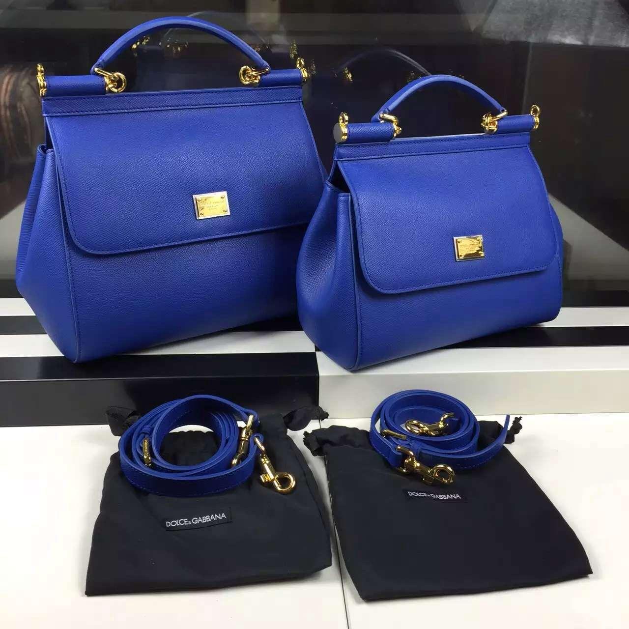 2c42a8f78f45 Dolce   Gabbana Small Medium Epsom Calfskin Sicily Bag Royal Blue ...