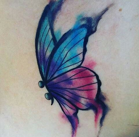 No More Words Butterfly Tattoo Butterfly Tattoo On Shoulder Semicolon Butterfly Tattoo
