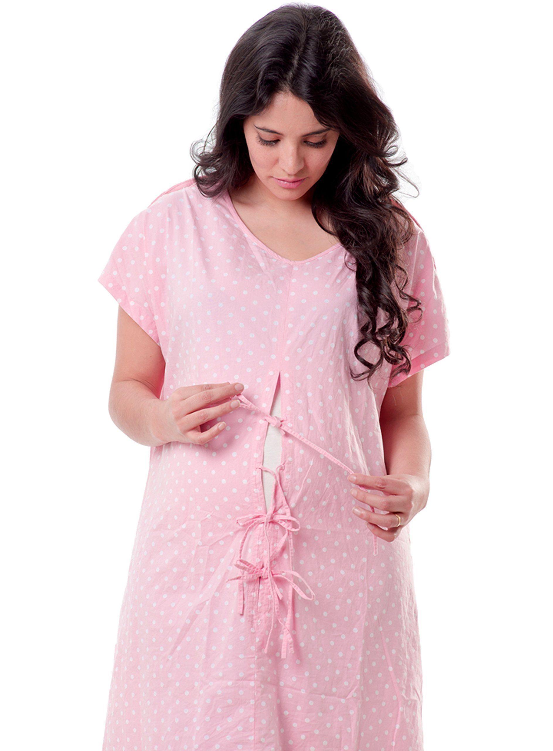 Designer Hospital Delivery Gown: easy epidural, fetal monitoring, IV ...
