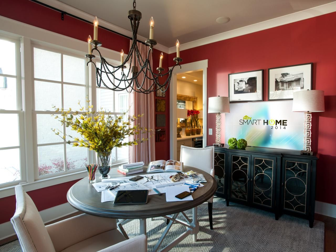 Beautiful Rooms From Hgtv Smart Home 2014  Hgtv Barn Doors And Room Extraordinary 2014 Dining Room Colors Decorating Design