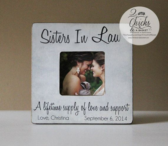 Sister In Law Picture Frame Personalized Wedding Sister In Law Picture Frame Sister In Law Gift