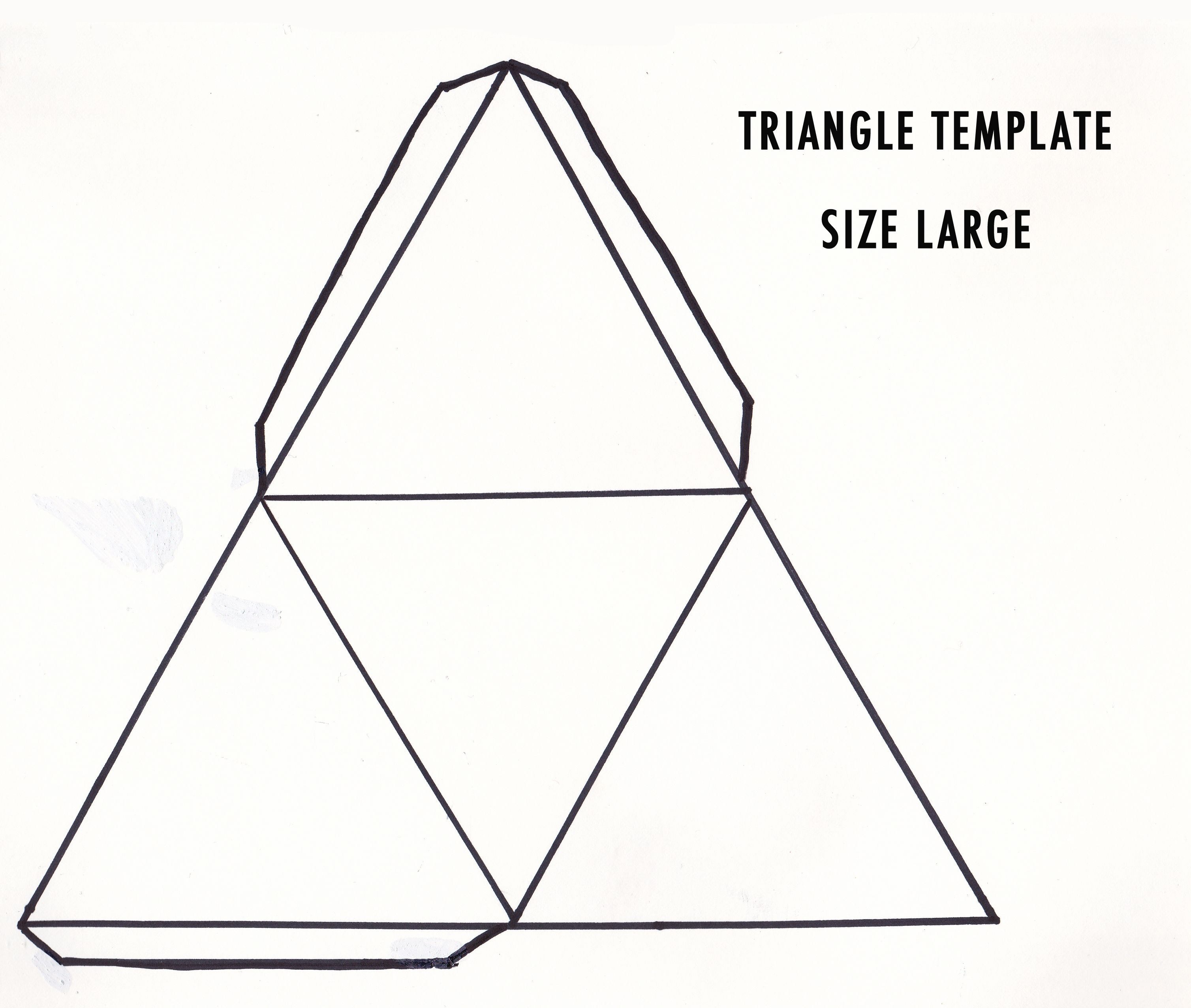 Diy D Geometric Sculpture  Triangles Template And Art Handouts