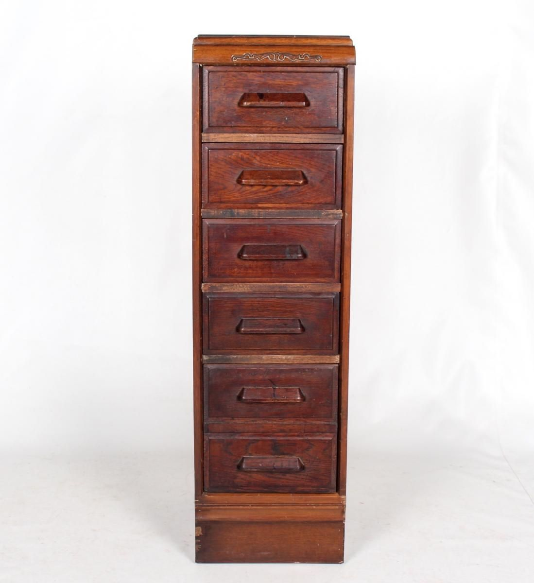 Vintage Oak Filing Cabinet Chest Of Drawers 1 (With Images